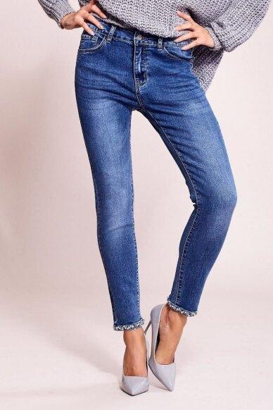 Mėlynos spalvos džinsai MOD822 4