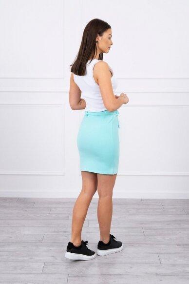 Mėtinės spalvos sijonas MOD268 2