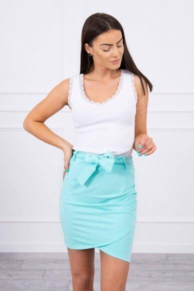 Mėtinės spalvos sijonas MOD268 3