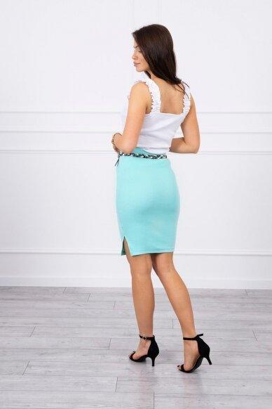 Mėtinės spalvos sijonas MOD690 2