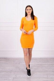 Neoninė oranžinė suknelė MOD060