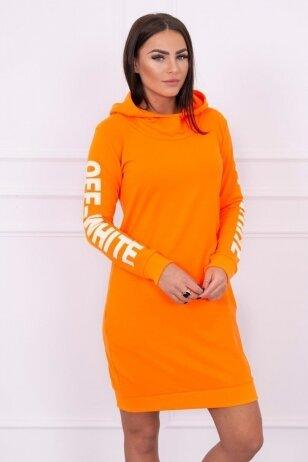 Neoninė oranžinė suknelė MOD025