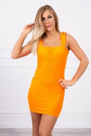 Neoninė oranžinė suknelė MOD692