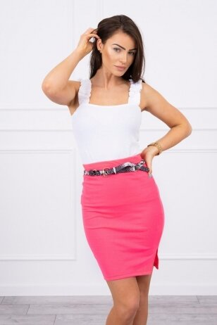 Neoninės rožinės spalvos sijonas MOD690