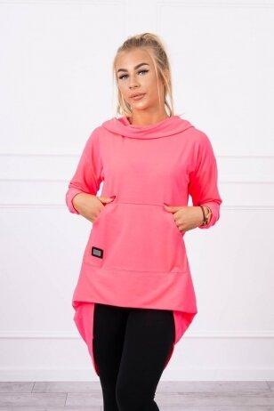 Neoninės rožinės spalvos marškinėliai MOD755