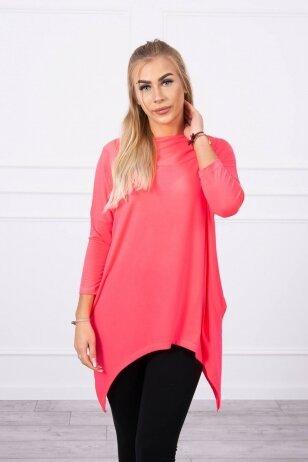 Neoninės rožinės spalvos marškinėliai MOD778