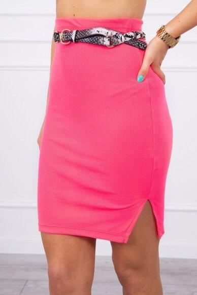 Neoninės rožinės spalvos sijonas MOD690 4