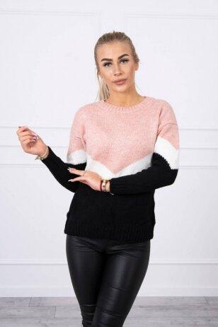 Nude ir juodos spalvos megztinis MOD499