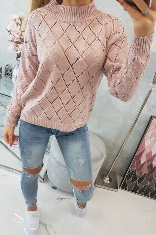 Nude spalvos megztinis MOD784