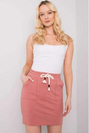 Tamsiai rožinės spalvos sijonas MOD1154