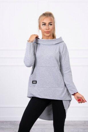 Pilkos spalvos marškinėliai MOD755