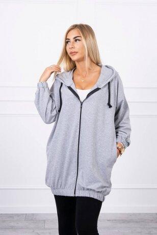 Pilkos spalvos marškinėliai MOD760
