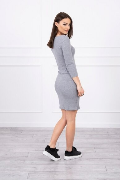 Pilka suknelė MOD060 3