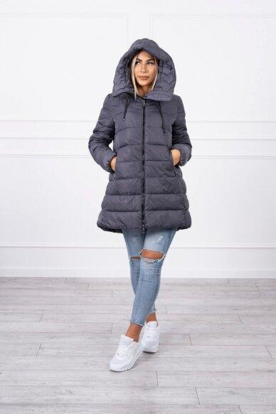 Pilka žieminė striukė MOD771 4