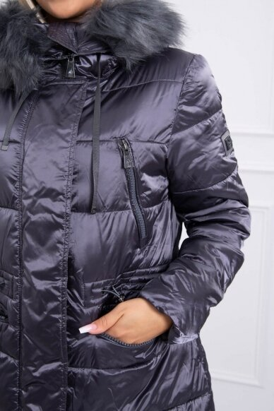 Pilka žieminė striukė MOD776 4