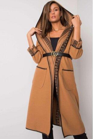 Šviesiai rudas paltas MOD1410
