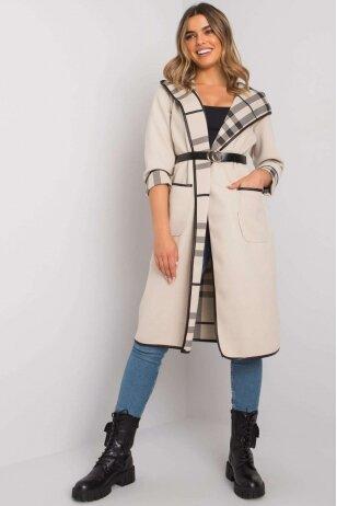 Smėlinės spalvos paltas MOD1410