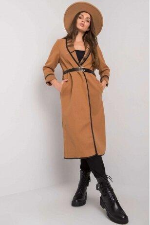 Šviesiai rudas paltas MOD1401