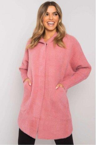 Rožinis alpakos paltukas MOD1315