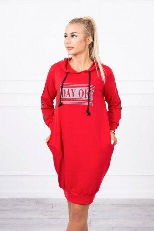Raudona suknelė MOD747