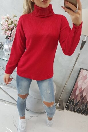 Raudonas megztinis MOD785