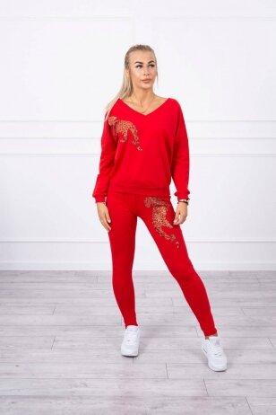 Raudonas sportinis kostiumas MOD765