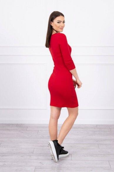 Raudona suknelė MOD060 2