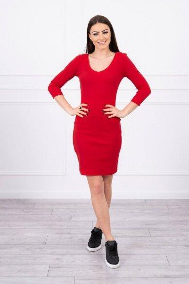 Raudona suknelė MOD060 3