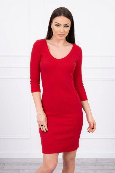 Raudona suknelė MOD060