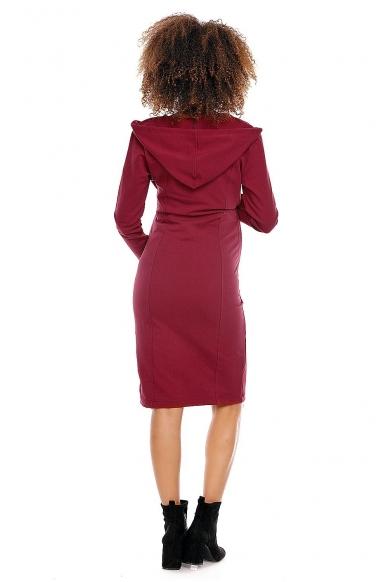 Kaštoninės spalvos suknelė MOD145 4