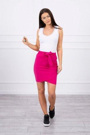 Rožinės spalvos sijonas MOD268
