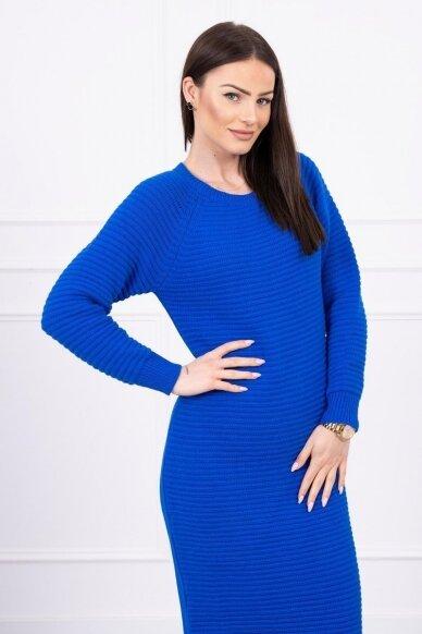 Rugiagėlių spalvos ilgas megztinis suknelė MOD492 3