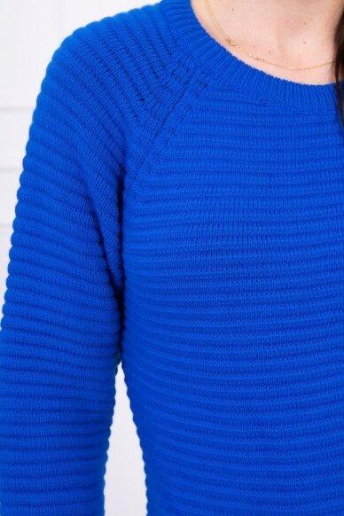 Rugiagėlių spalvos ilgas megztinis suknelė MOD492 4