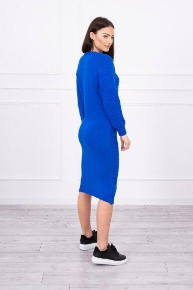 Rugiagėlių spalvos ilgas megztinis suknelė MOD492 2