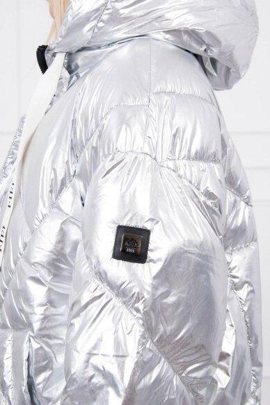 Sidabrinės spalvos žieminė striukė MOD774 7