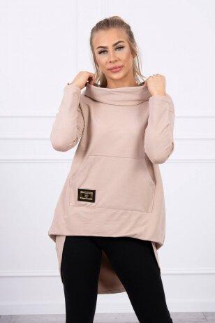 Smėlinės spalvos marškinėliai MOD755