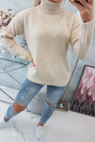 Smėlinės spalvos megztinis MOD785