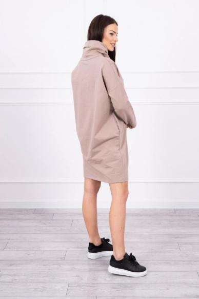 Smėlinės spalvos suknelė tunika MOD479 2