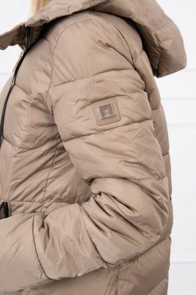 Smėlinės spalvos žieminė striukė MOD771 5