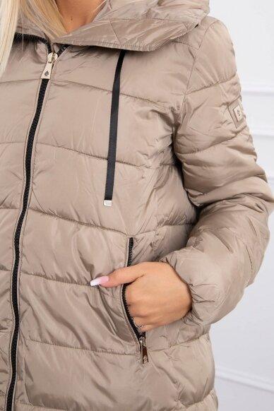 Smėlinės spalvos žieminė striukė MOD771 6