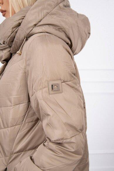 Smėlinės spalvos žieminė striukė MOD772 6