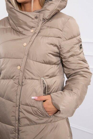 Smėlinės spalvos žieminė striukė MOD773 5