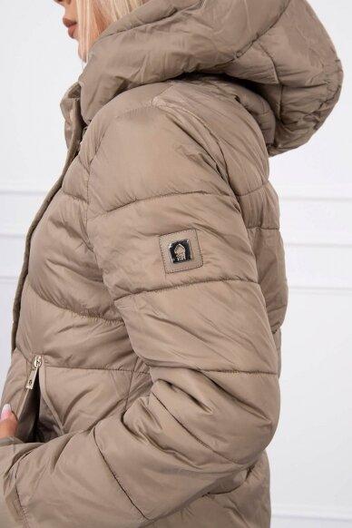 Smėlinės spalvos žieminė striukė MOD773 6