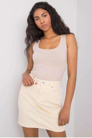 Geltonas džinsinis sijonas MOD1019