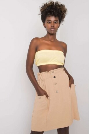 Smėlinės spalvos sijonas MOD1170