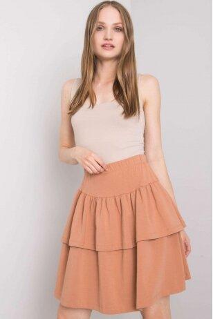 Šviesiai rudas sijonas MOD1030