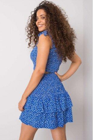 Mėlynos spalvos sijonas MOD1156