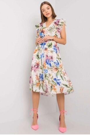 Balta suknelė suknelė MOD1165