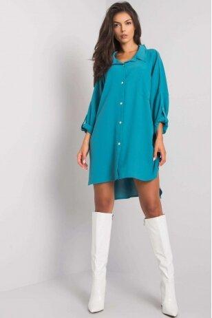 Mėtinės spalvos marškiniai suknelė MOD1270