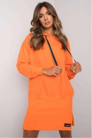 Oranžinės spalvos suknelė MOD1195